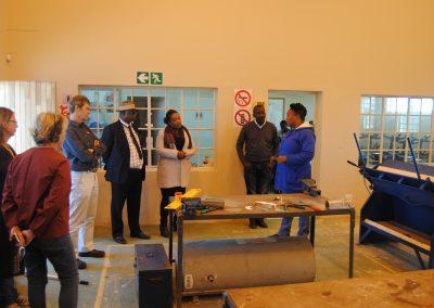 EDF visit to COSDEC centre